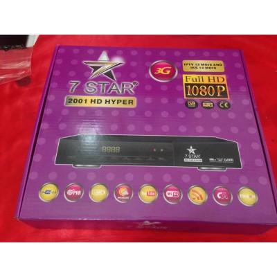 7star 2001 hd hyper new + 12 mois abonnement satellite + 12 mois iptv