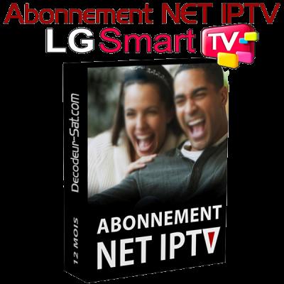 ABONNEMENT NET IPTV POUR LG SMART TV 12 MOIS