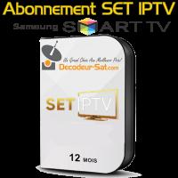 ABONNEMENT SET IPTV POUR SAMSUNG SMART TV 12 MOIS