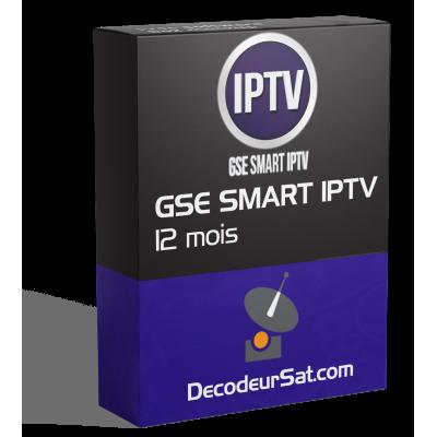 ABONNEMENT GSE SMART IPTV 12 MOIS
