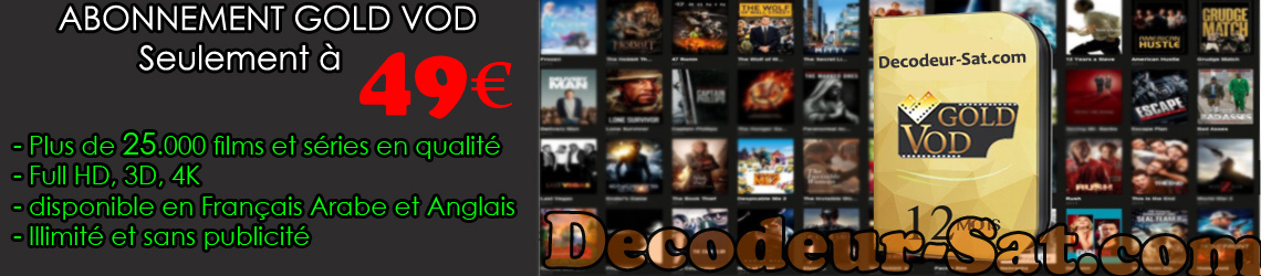 ABONNEMENT GOLD VOD / START MOVIES (12 Mois)