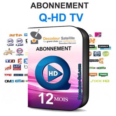 ABONNEMENT Q-HD TV IPTV