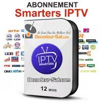 ABONNEMENT 12 MOIS IPTV Smarters