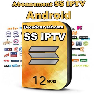 ABONNEMENT SS iPTV POUR Android TV 12 MOIS
