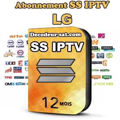 ABONNEMENT SS iPTV POUR LG SMART TV 12 MOIS