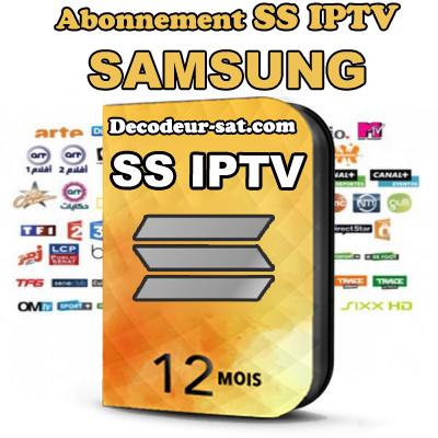 ABONNEMENT SS iPTV POUR SAMSUNG SMART TV 12 MOIS