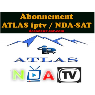 abonnement atlas iptv nda sat. Black Bedroom Furniture Sets. Home Design Ideas