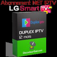 ABONNEMENT DUPLEX IPTV POUR LG SMART TV 12 MOIS