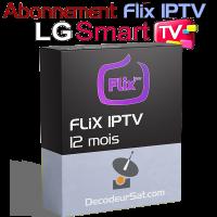 ABONNEMENT FLiX IPTV POUR LG SMART TV 12 MOIS