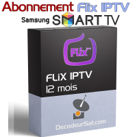 ABONNEMENT FLiX IPTV POUR SAMSUNG SMART TV 12 MOIS