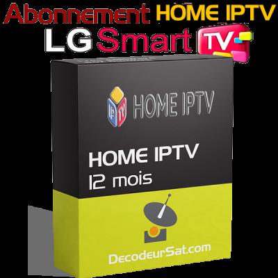 ABONNEMENT HOME IPTV POUR LG SMART TV 12 MOIS