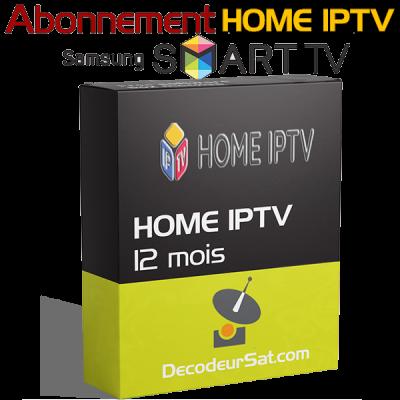 ABONNEMENT HOME IPTV POUR SAMSUNG SMART TV 12 MOIS