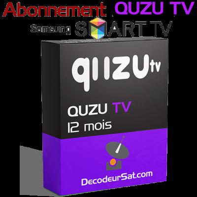 ABONNEMENT QUZU TV IPTV POUR SAMSUNG SMART TV 12 MOIS