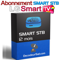 ABONNEMENT 12 MOIS SMART STB iPTV POUR LG SMART TV