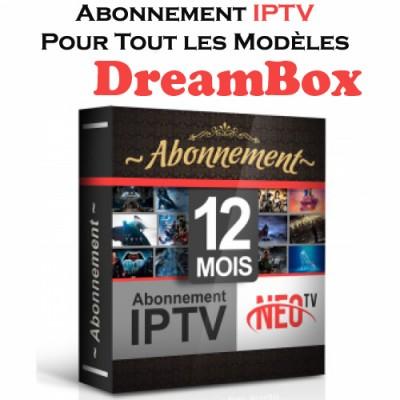ABONNEMENT iPTV POUR TOUS LES MODÈLES DreamBox 12 MOIS