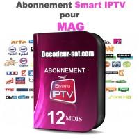ABONNEMENT SMART iPTV SIPTV POUR MAG 12 MOIS