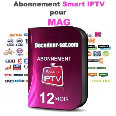 ABONNEMENT 12 MOIS SMART iPTV SIPTV POUR MAG