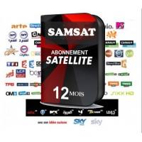 RENOUVELLEMENT ABONNEMENT SERVEUR DÉCODEUR POUR TOUS LES MODÈLES SAMSAT 12 MOIS