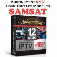 RENOUVELLEMENT ABONNEMENT iPTV POUR TOUS LES MODÈLES SAMSAT 12 MOIS