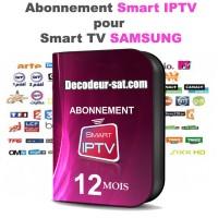 ABONNEMENT SMART iPTV POUR SAMSUNG SMART TV 12 MOIS