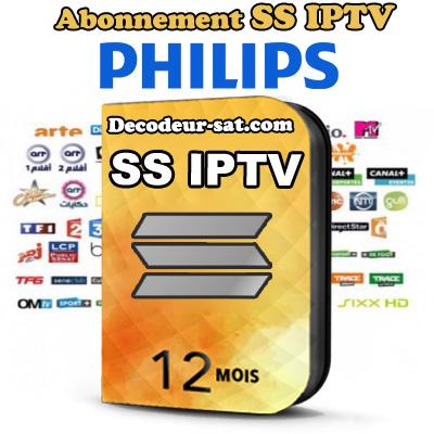 ABONNEMENT SS iPTV POUR Philips SMART TV 12 MOIS