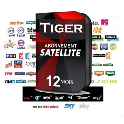 RENOUVELLEMENT ABONNEMENT SERVEUR DÉCODEUR POUR TOUS LES MODÈLES Tiger 12 MOIS