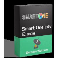 ABONNEMENT SMART ONE IPTV POUR TOUS SMART TV 12 MOIS